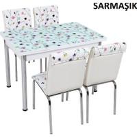 Osmanlı Mobilya Osmanlı Mutfak Masa Takımı Sarmaşık Desen Masa + 4 Sandalye