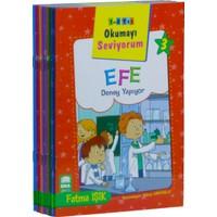 Okumayı Seviyorum Seti 1 Ve 2 Sınıflar İçin Eğik Yazılı (10 Kitap-Küçük Boy)