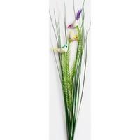Yapay Çiçek Deposu Dekoratif Kuşlu Yapay Yeşillik Saz
