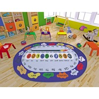 Confetti Paint 133X190 Cm Mavi Çocuk Halısı
