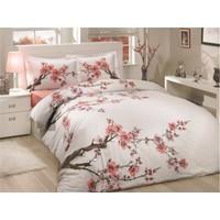 Soley Çift Kişilik Nevresim Takımı Sakura Beyaz V2