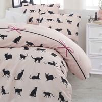Eponj Home Nevresim Takımı Çift Kişilik Cats Pudra