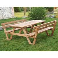 Sırt Dayamalı Piknik Masası Kahve-6 Kişilik