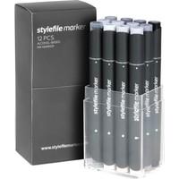 Stylefile Marker 12Pcs Set Cool Grey