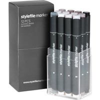 Stylefile Marker 12Pcs Set Warm Grey