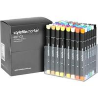 Stylefile Marker 48Pcs Set Main A