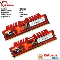 Gskıll Ripjawesx 8Gb (2X4Gb) 1600Mhz Ddr3 Cl9 Pc Ram F3-12800Cl9D-8Gbxl
