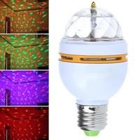 Cix 3 Renk Işık Yansıtan Dekoratif Lamba Crystal Magic Bulb
