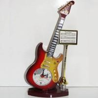 Cix Gitar Tasarımlı Dekoratif Masa Saati