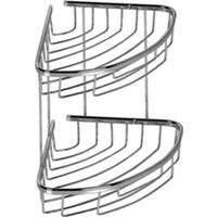 Mabello İkili Oval Banyo Oval Köşe Rafı Pirinç 22X22Cm