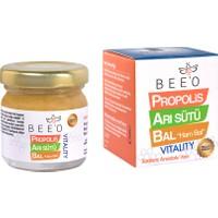 BEEO Yetişkinler İçin Propolis Arı Sütü Ham Bal Karışımı 40 gr