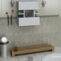 Eris Çok Amaçlı Banyo Dolabı Beyaz