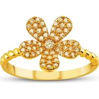 Allegro Gold Çiçek Altın Yüzük AGT0520