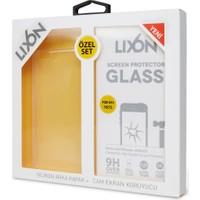 Lixon Apple iPhone 5&5S Set1 Ekran Koruyucu+Şeffaf Kılıf