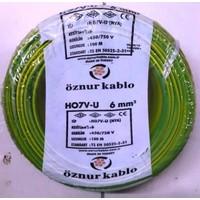Öznur 6 Mm Nya Kablo Tek Damar Sarıyeşil