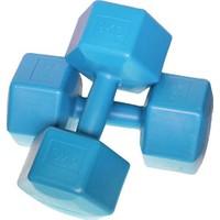Spor724 9 Kg. X 2 = 18 Kg. Plastik Vinyl Dambıl Seti ( Dumbell Ağırlık Seti Kondisyon Aleti Pilates Egzersiz Malzemesi ) VD90