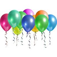 Bebekparti Metalik Karışık Renk Balon 50 Adet