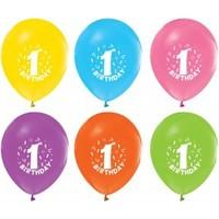 Bebekparti Karışık Renk 1 Yaş Balon 10 Adet