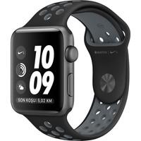 Apple Watch Seri 2 38mm Uzay Grisi Alüminyum Kasa ve Siyah/Soğuk Gri Nike Spor Kordon - MNYX2TU/A