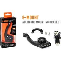 Guee G-Mount Ön Işık-Garmin Saat-Kamera Aparatı Siyah