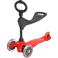 Micro Mini Scooter Red 3 In 1 Oturak Ve T Barlı