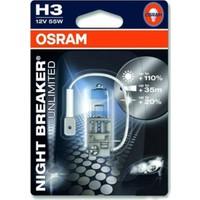 Osram Ampul Far H3 12V 55W %110 Daha Fazla Işık 64151 Nbu Night Breaker Unlimited