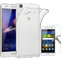 Teleplus Huawei Y6 II 2 Tam Korumalı Silikon Kılıf + Kırılmaz Cam