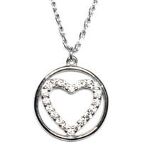 A'favor Gümüş Bayan Kolyesi Çember Kalp