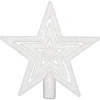 Beyaz Renk Yıldız Çam Ağacı Tepelik 17 cm