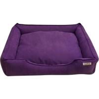 Lepus Soft Eflatun Kedi Köpek Yatağı Medium 50x20x65 cm