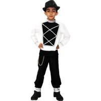Herkese Kostüm Michael Jackson Dansçı Çocuk Kostümü 7 - 9 Yaş