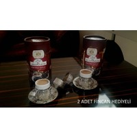 By Mırracı 2 Adet 500 Gr Dibek Kahvesi + 2 Adet Fincan