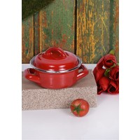Keramika 1 Parca Emaye Tencere Kırmızı 12 Cm