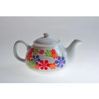 Keramika Demlık 9 Cm Beyaz 004 Renklı Trend A