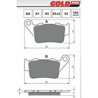 Gold Gold Fren Balatası 023 Bmw F 650 800 Gs, S 1000 Rr Ktm Duke 200 390 Arka Yamaha Mt-03 Xt 660 R X Z Arka