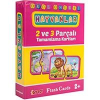 Diytoy 50 Parça Hayvanlar Puzzle Kartları Okul Öncesi