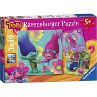 Ravensburger 093649 Trolls (Troller) Çocuk Puzzle (3 x 49 Parça)