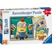 Ravensburger 3 x 49 Parça Minions (Çılgın Hırsız) Çocuk Puzzle