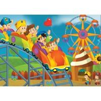 Keskin Color 100 Parça Lunapark Çocuk Puzzle (35X25 Cm)