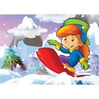 Keskin Color Çocuk Yapboz - 100 Parça Kayak Keyfi