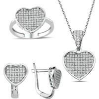 Bella Gloria Gümüş Mikro Taşlı Kalp Takım (Gt00197) 20