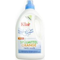 Klar Organik Bulaşık Yıkama Sıvısı - Portakal 1.5 Lt.