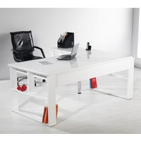 Dessenti Leon Ofis Masası (Beyaz/Beyaz)