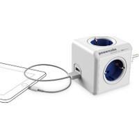 PowerCube Original 4'lü Priz + 2 USB Port Akım Korumalı Priz Çoklayıcı