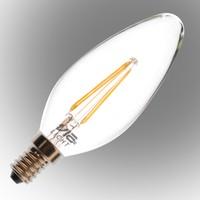 Vialicht 2W(20W) B35-COG Led Filament Mum E14 Ampul 210lmn 270° 2700K