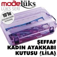 Modelüx Lila Bayan Ayakkabı Kutusu 10'lu Paket