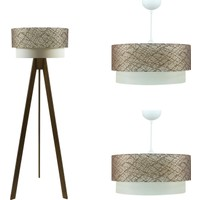 Crea Lighting Doubleshade Ceviz Salon Set /File/Kahve