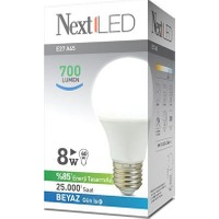 NextLED (Next&NextStar) E27 8W Beyaz Led Ampul