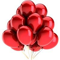Elitparti Metalik Kırmızı Balon (5 Adet)