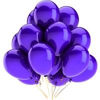 Elitparti Metalik Mor Balon (100 Adet)